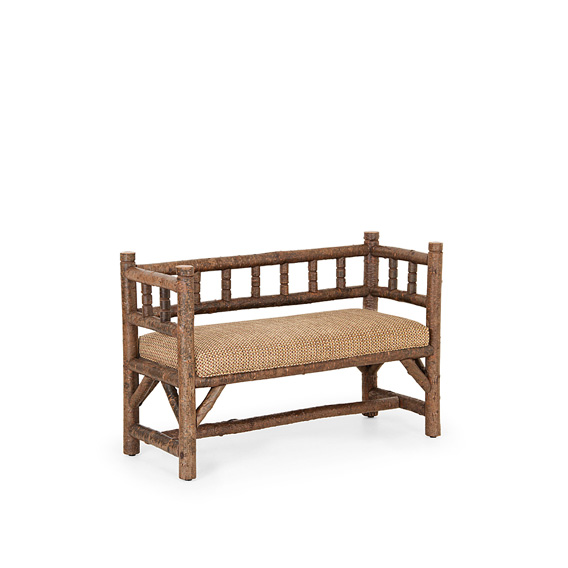 Rustic Bench #1302 shown in Natural Finish (on Bark)