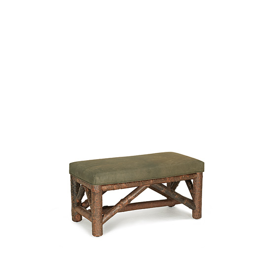 Rustic Bench #1512 shown in Natural Finish (on Bark)