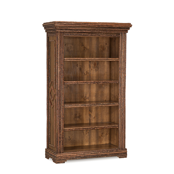 Rustic Bookcase with Four Adjustable Shelves #2202 (shown in Natural Finish on Bark)