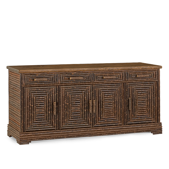 Rustic Buffet #2534 (Shown in Natural Finish & Medium Pine Top)