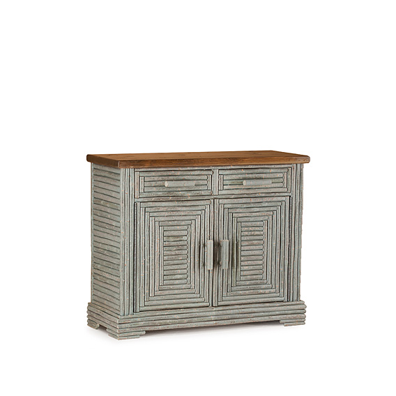 Rustic Buffet #2538 in Spruce Premium Finish (on Bark) with Medium Pine Top
