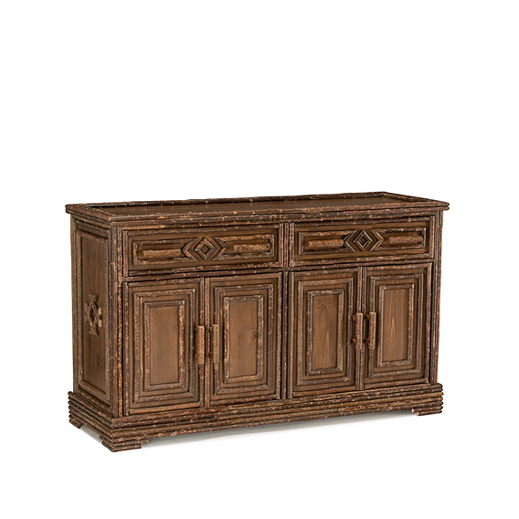 Rustic Buffet #2542 shown in Natural Finish (on Bark)