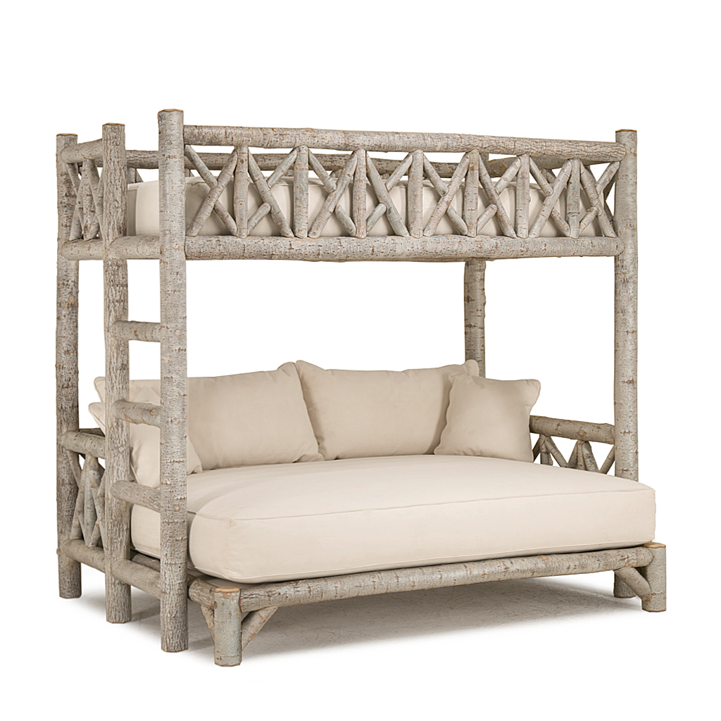 Rustic bunk bed ladder left 4254l shown in sandstone finish on bark