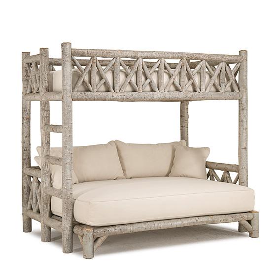 Rustic Bunk Bed (Ladder Left) #4254L (shown in Sandstone Finish on Bark)