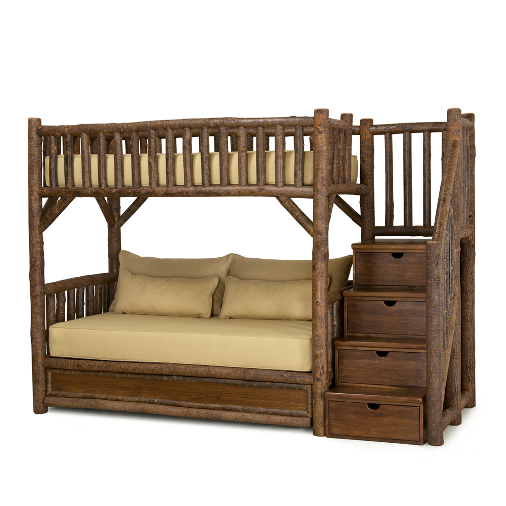 Rustic Bunk Bed With Trundle And Stairs La Lune Collection