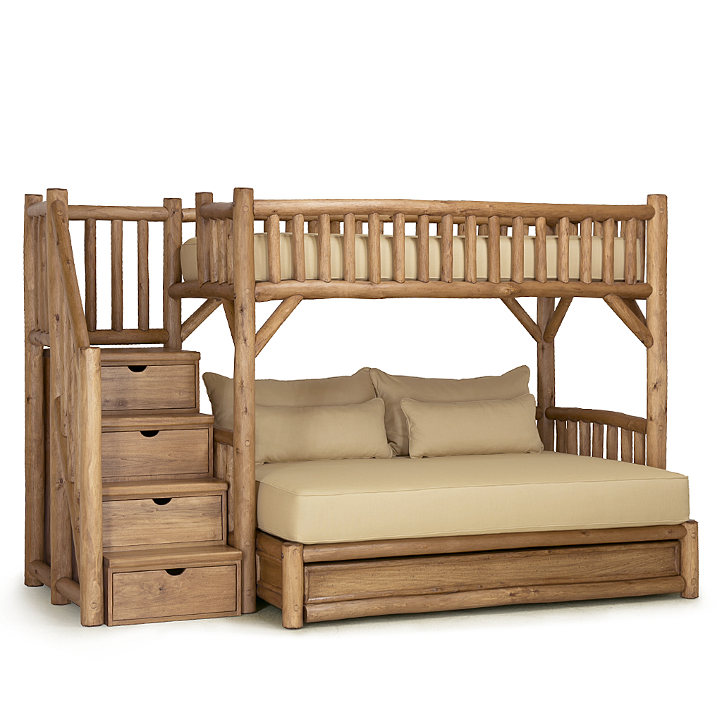 Picture of: Rustic Bunk Bed With Trundle And Stairs La Lune Collection