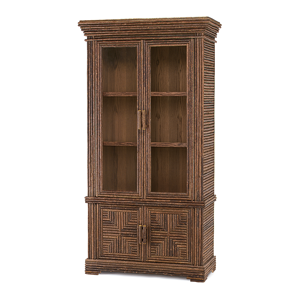 Rustic Cabinet With Glass Doors