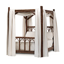 Canopy Bed Queen #4150 shown in Natural Finish (on Bark) La Lune Collection