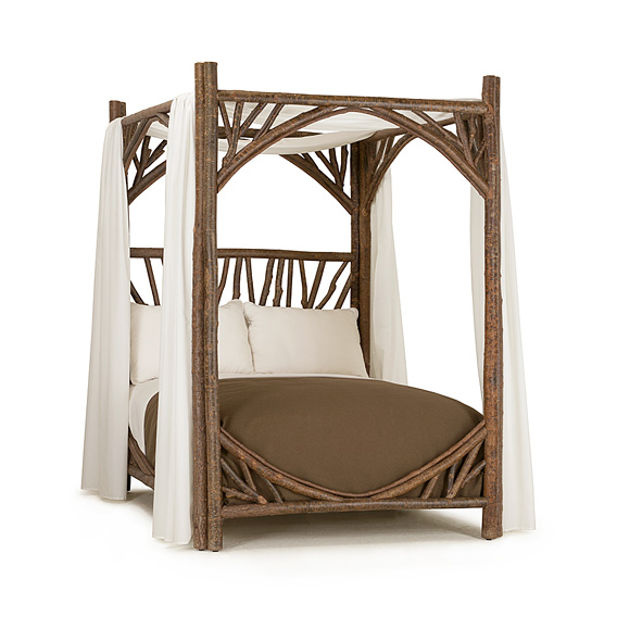 Rustic Canopy Bed Full #4278 (shown in Natural Finish)