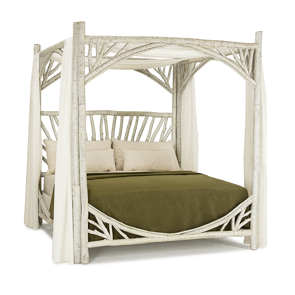 ... Rustic Canopy Bed King #4282 (shown in Whitewash Finish) La Lune Collection ...  sc 1 st  La Lune Collection & Rustic Canopy Bed | La Lune Collection