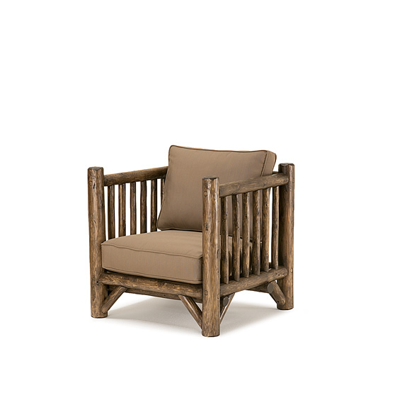 Rustic Club Chair #1270 shown in Kahlua Premium Finish (on Peeled Bark)