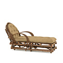 Chaise #1036 shown in Natural Finish (on Bark) La Lune Collection