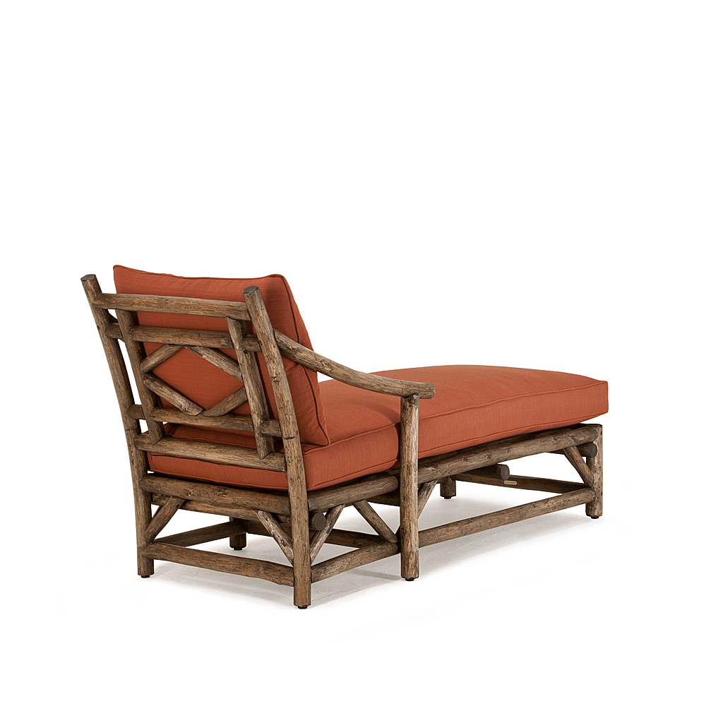 rustic chaise 1181 shown in kahlua premium finish on peeled bark