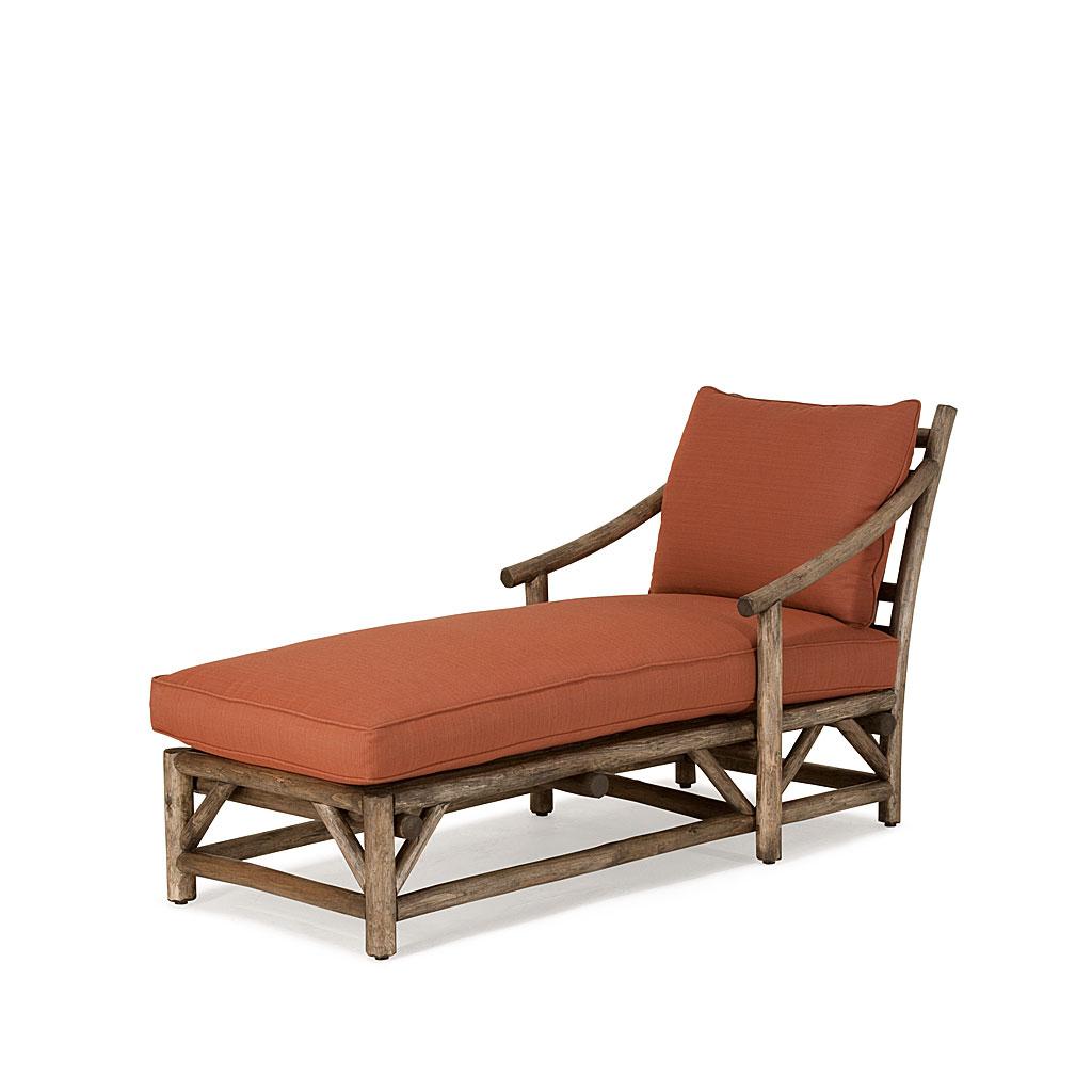 rustic chaise 1181 shown in kahlua premium finish on peeled bark la