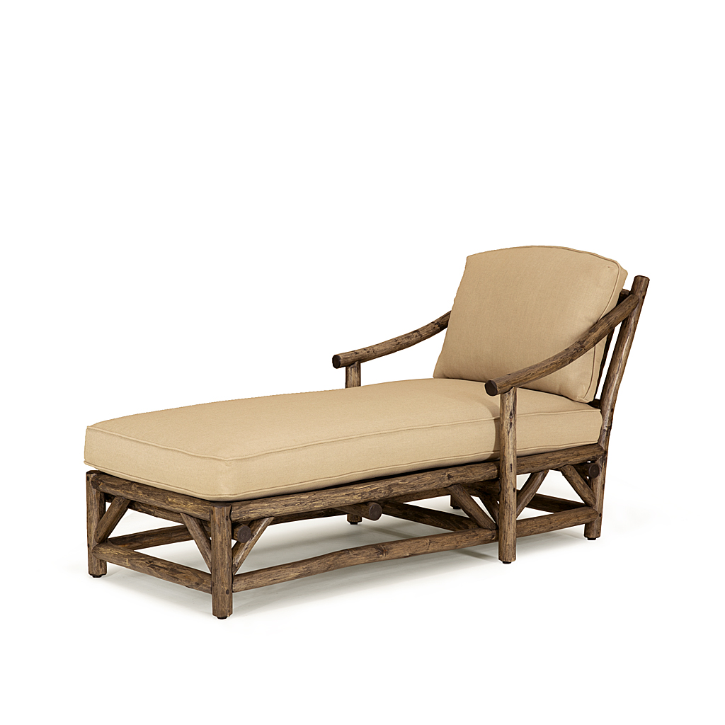 rustic chaise 1182 shown in kahlua finish on peeled bark la lune