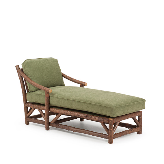 Rustic Chaise #1182 shown in Natural Finish (on Bark)