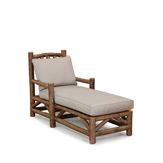 Rustic Chaise #1231 shown in Natural Finish (on Bark)