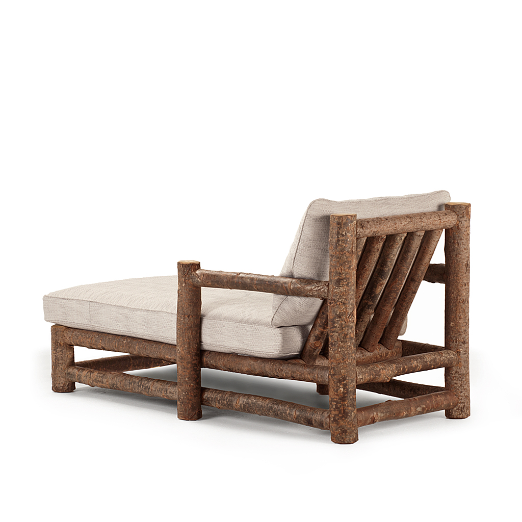 rustic chaise 1250 shown in natural finish on bark la lune