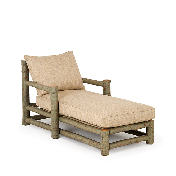 Rustic Chaise #1250 shown in Sage Premium Finish (on Bark)