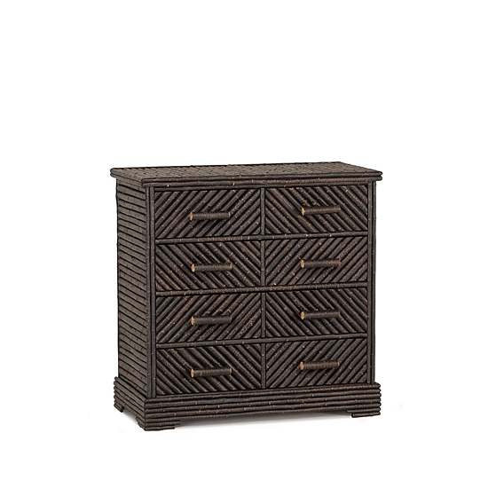 Rustic Five Drawer Chest #2128 (shown in Ebony Finish on Bark)