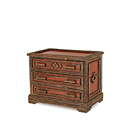 Three Drawer Chest #2136 shown in a Custom Finish - Redwood Wash Pine with Willow in Natural Finish (on Bark) La Lune Collection