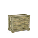 Three Drawer Chest #2136 shown in Sage Premium Finish (on Bark) La Lune Collection
