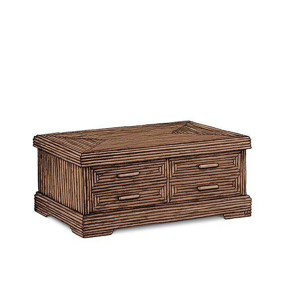 Rustic Chest #2148 shown in Natural Finish (on Bark)