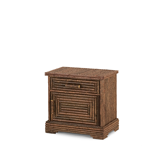 Rustic Nightstand #2154R (Hinged on Right Side) Shown in Natural Finish