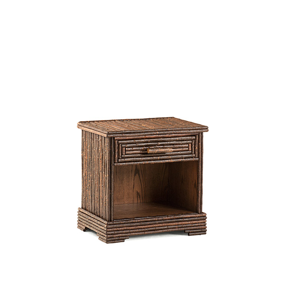 Rustic Open Nightstand #2156 shown in Natural Finish (on Bark)
