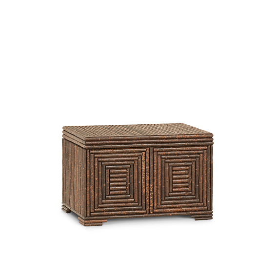 Rustic Chest #2172 shown in Natural Finish (on Bark)