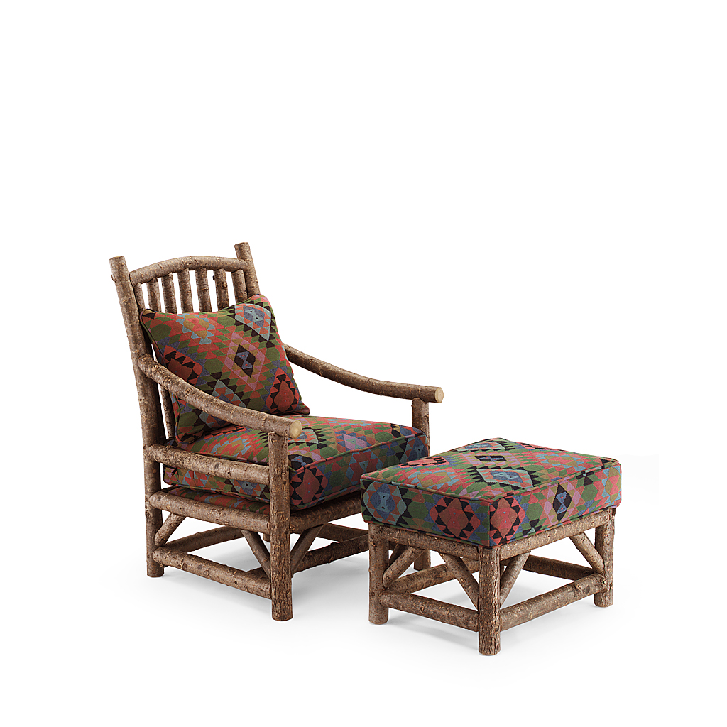 Rustic Club Chair #1167 & Ottoman #1173 (Shown in Natural Finish)