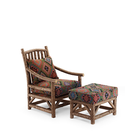 Club Chair #1167 & Ottoman #1173 shown in Natural Finish (on Bark)