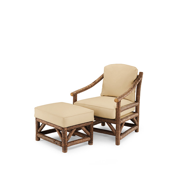 Rustic Club Chair #1174 & Ottoman #1173 (Shown in Natural Finish)