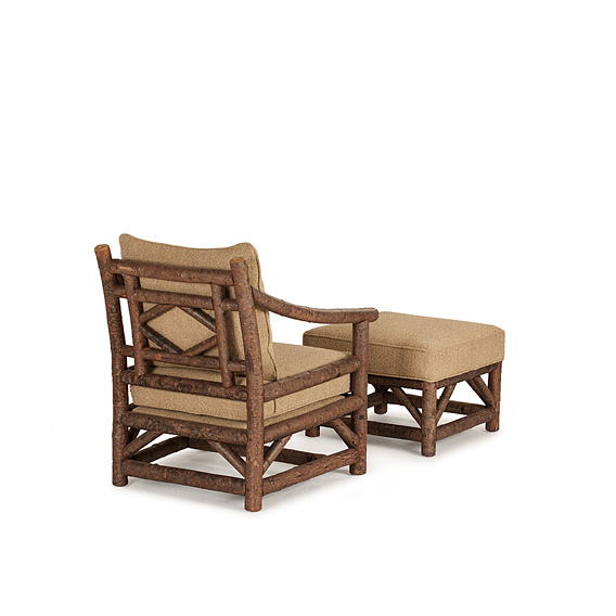 Club Chair #1175 shown with Ottoman #1173 in Natural Finish (on Bark)
