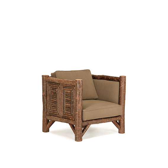 Rustic Club Chair #1224 shown in Natural Finish (on Bark)