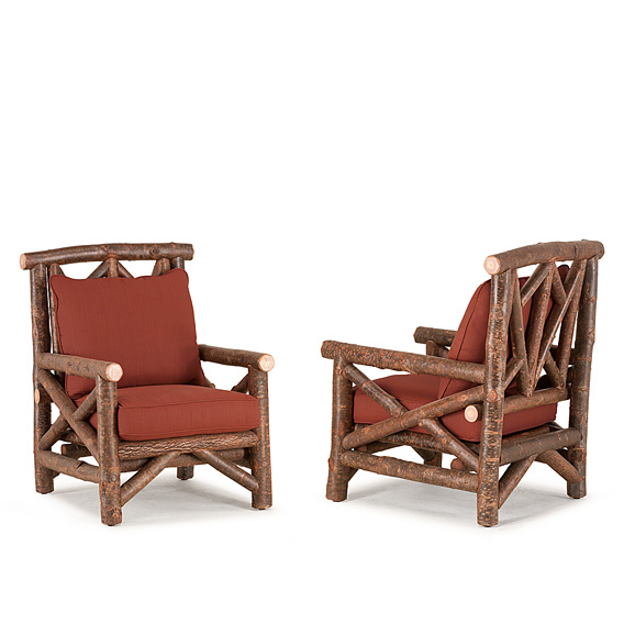 Rustic Club Chair #1242 (Shown in Natural Finish)