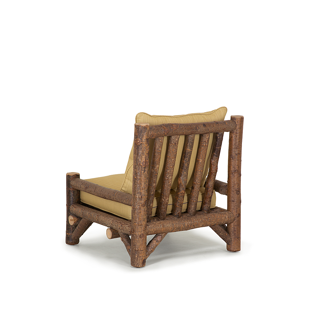 rustic armless lounge chair