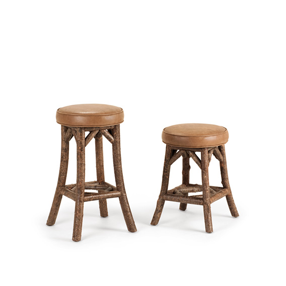 Rustic Bar Stool #1111 & Counter Stool #1109 (shown in Natural Finish)