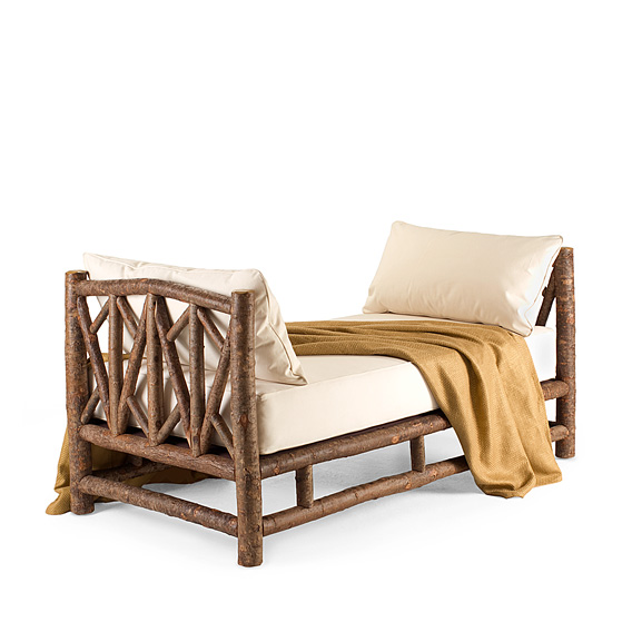 Rustic Daybed #4054 shown in Natural Finish (on Bark)