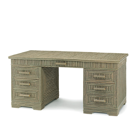 Rustic Desk #2140 shown in Sage Premium Finish (on Bark)
