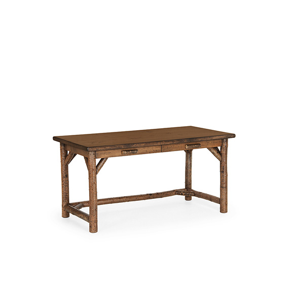 Rustic Desk #3199 shown in Natural Finish (on Bark) with Medium Pine Top