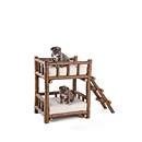 Dog Bunk Bed #5134 shown in Natural Finish (on Bark) La Lune Collection