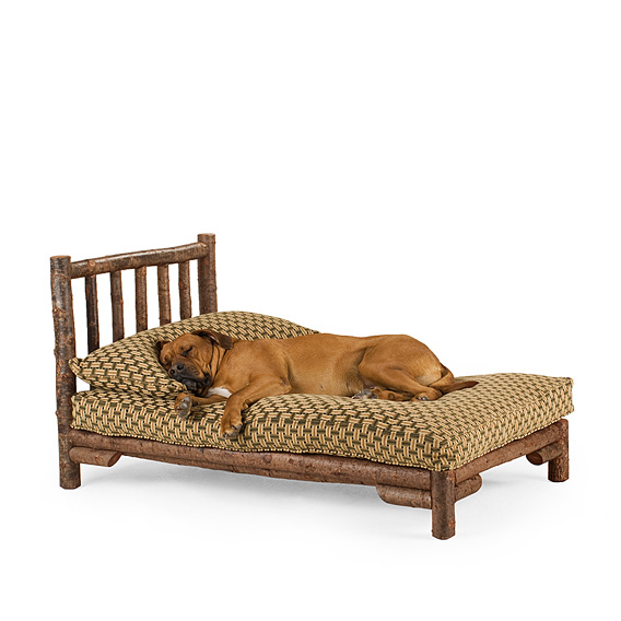 Rustic Dog Chaise X-Large #5146 shown in Natural Finish (on Bark)