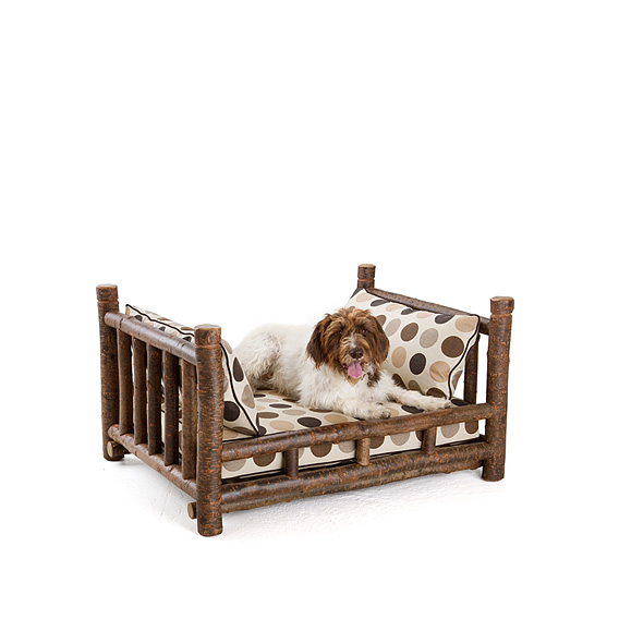 Rustic Dog Daybed #5162 shown in Natural Finish (on Bark)