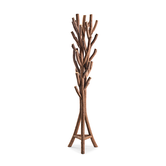 Rustic Coat Tree #5060 (shown in Natural Finish on Bark)