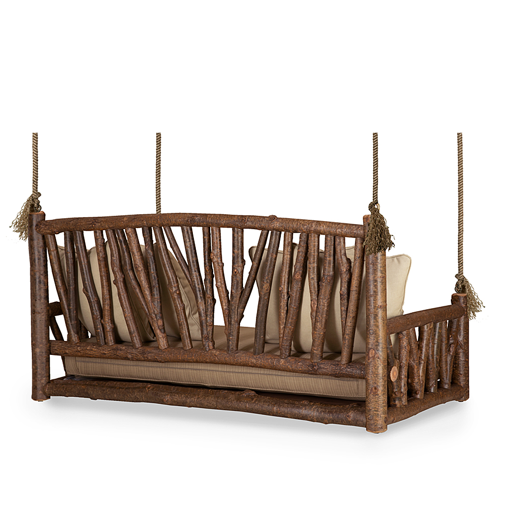 Rustic hanging bed daybed la lune collection for Hanging mattress