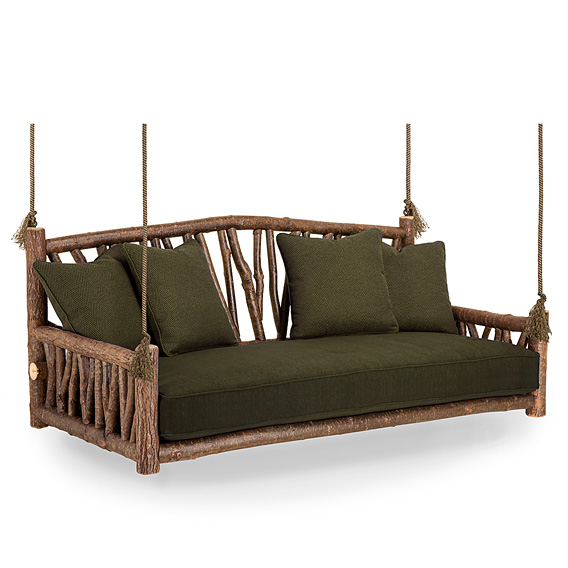 Rustic Hanging Daybed #4519 (shown in Natural Finish)