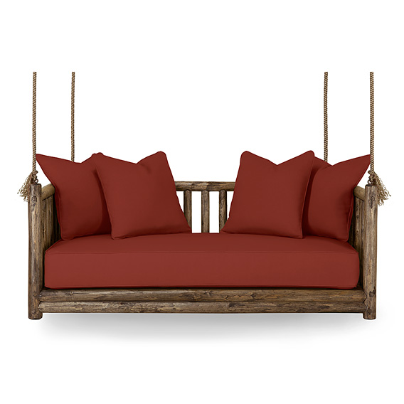 Rustic Hanging Daybed #4631 (shown in Kahlua Finish)