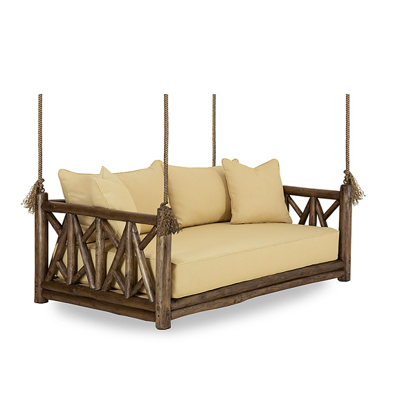 Rustic Hanging Daybed #4635 (shown in Kahlua Finish)