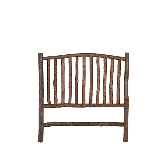 Rustic Headboard Queen #4012 shown in Natural Finish (on Bark)